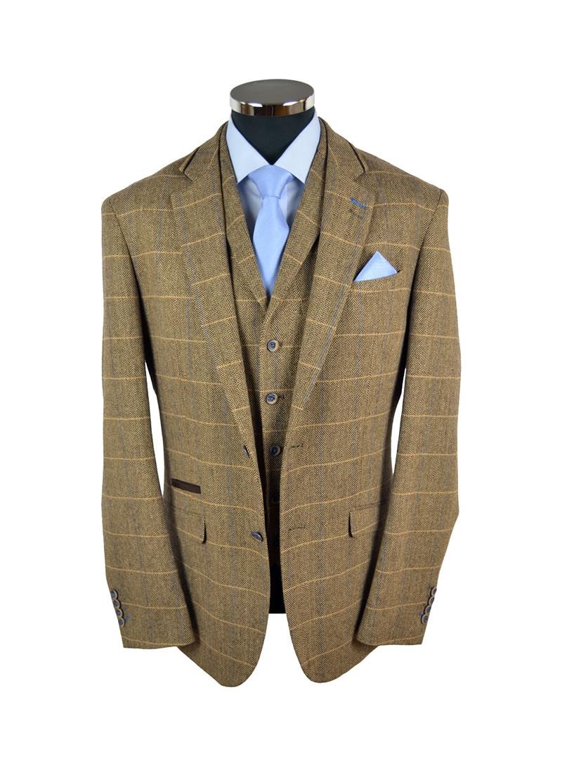 Brown Check Tweed Suit