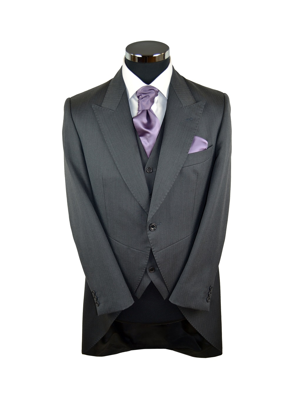 Grey Herringbone Tailcoat