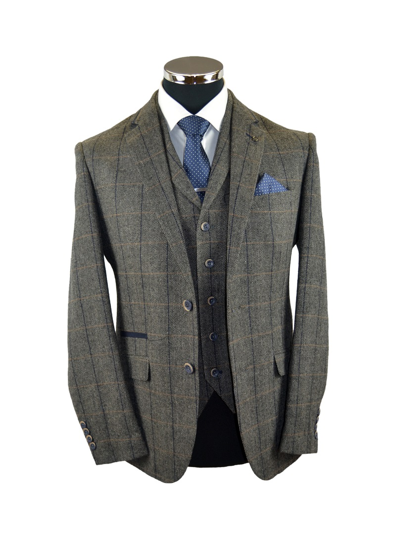 Grey Check Tweed Suit